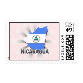 Nicaragua Flag Map 2.0 Postage