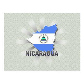 Nicaragua Flag Map 2.0 Postcard