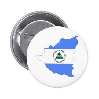Nicaragua Flag Map full size Button