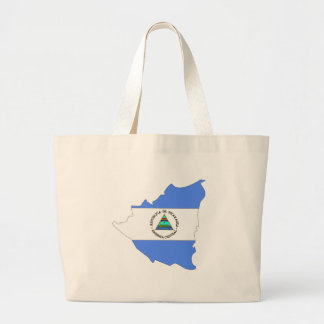 Nicaragua Flag Map full size Canvas Bags
