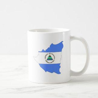 Nicaragua Flag Map full size Mug