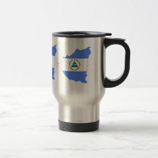 Nicaragua Flag Map full size Coffee Mug