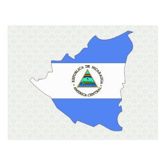 Nicaragua Flag Map full size Postcard