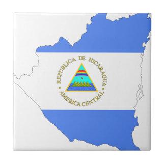 Nicaragua Flag Map Tile