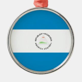 Nicaragua Flag Christmas Ornaments