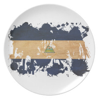 Nicaragua Flag Party Plates