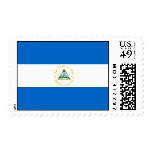 Nicaragua Flag Postage Stamps