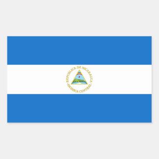 Nicaragua Flag Rectangular Sticker
