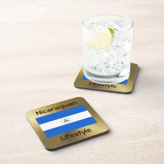 Nicaragua Flag+Text Coaster