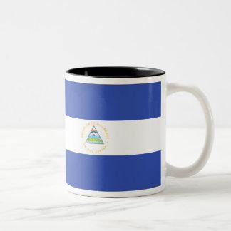 Nicaragua Flag Two-Tone Coffee Mug