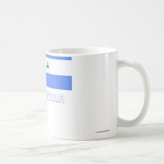 Nicaragua Flag with Name Coffee Mug