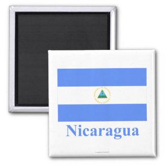Nicaragua Flag with Name Magnet