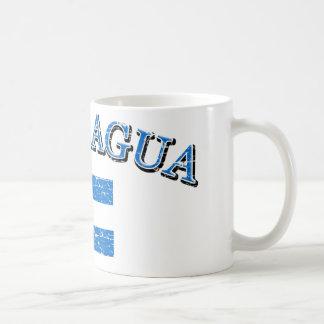 Nicaragua football design coffee mug