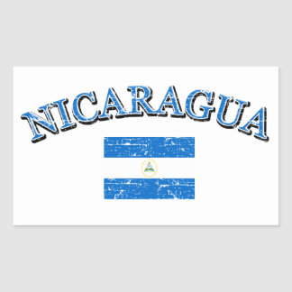 Nicaragua football design rectangular sticker