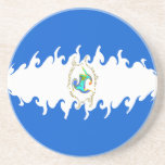 Nicaragua Gnarly Flag Coaster
