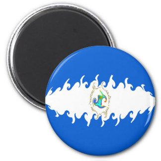 Nicaragua Gnarly Flag Magnet