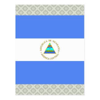 Nicaragua High quality Flag Post Cards