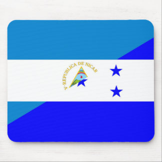 nicaragua honduras flag country half flag symbol mouse pad