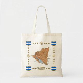 Nicaragua Map + Flags Bag