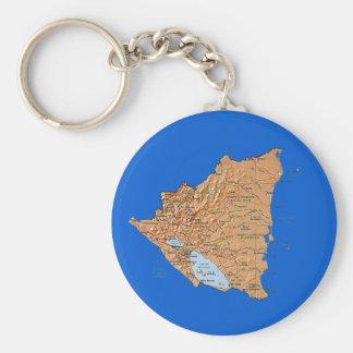 Nicaragua Map Keychain