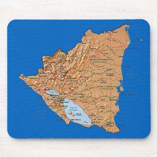 Nicaragua Map Mousepad