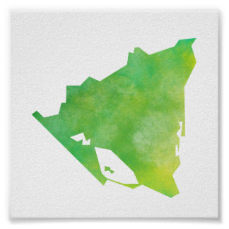 Nicaragua Map Poster