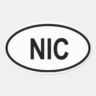 "Nicaragua ""NIC"" Oval Sticker"