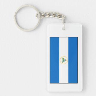 Nicaragua – Nicaraguan Flag Double-Sided Rectangular Acrylic Keychain