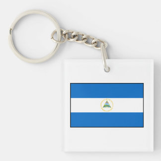 Nicaragua – Nicaraguan Flag Double-Sided Square Acrylic Keychain