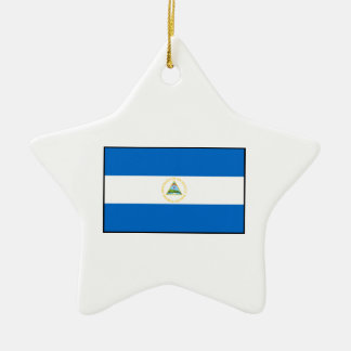 Nicaragua – Nicaraguan Flag Double-Sided Star Ceramic Christmas Ornament