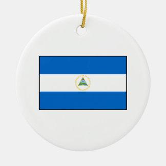 Nicaragua – Nicaraguan Flag Double-Sided Ceramic Round Christmas Ornament