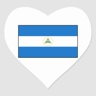 Nicaragua – Nicaraguan Flag Heart Sticker