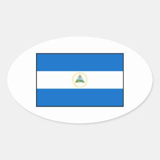Nicaragua – Nicaraguan Flag Oval Sticker