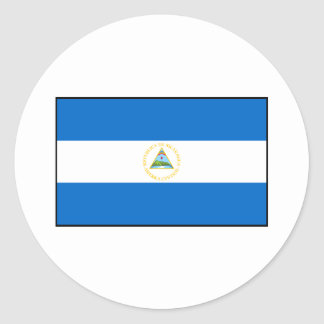 Nicaragua – Nicaraguan Flag Classic Round Sticker
