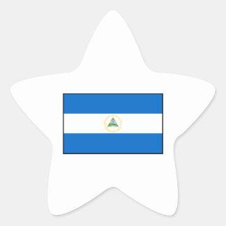 Nicaragua – Nicaraguan Flag Star Sticker
