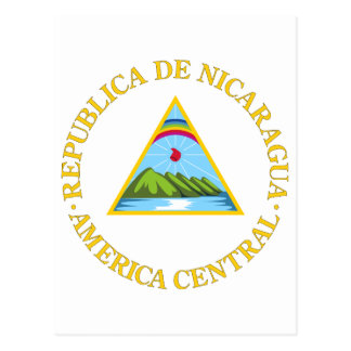 Nicaragua Official Coat Of Arms Heraldry Symbol Post Cards