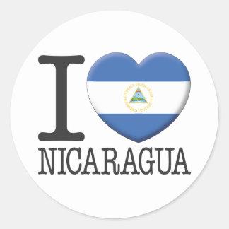 Nicaragua Pegatina Redonda
