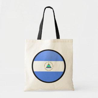 Nicaragua quality Flag Circle Bags