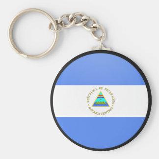 Nicaragua quality Flag Circle Key Chains