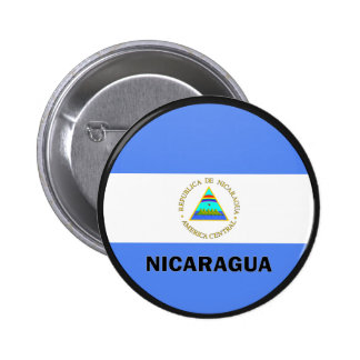 Nicaragua Roundel quality Flag Buttons