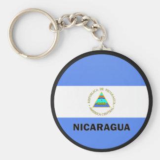 Nicaragua Roundel quality Flag Keychain