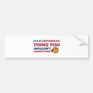 nicaragua Smiley Designs Car Bumper Sticker