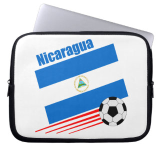 Nicaragua Soccer Team Laptop Computer Sleeves