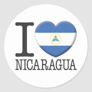 Nicaragua Round Sticker