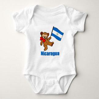 Nicaragua Teddy Bear Baby Bodysuit