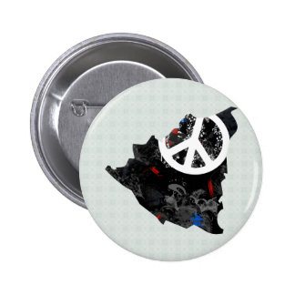 Nicaragua Trendy Peace Sign with Nicaraguan map Buttons