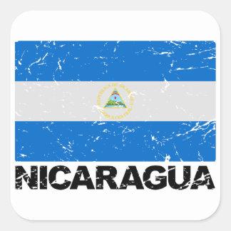 Nicaragua Vintage Flag Square Sticker