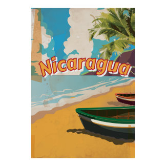 Nicaragua Vintage vacation Poster
