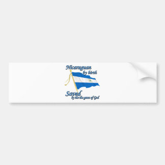 Nicaraguan by birth saved by the grace of God Car Bumper Sticker