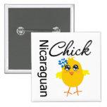 Nicaraguan Chick Pinback Buttons